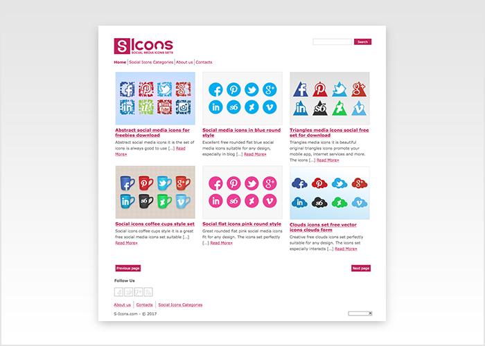 עיצוב אתר עבור אתר אייקונים